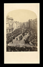 Load image into Gallery viewer, Rare 1860s Photo Outdoor Street Scene Big Crowd Buildings Religious Procession