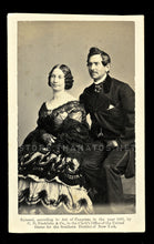 Load image into Gallery viewer, Rare Fredricks CDV Barney & Maria Williams Performed for Lincoln & Civil War Soldiers
