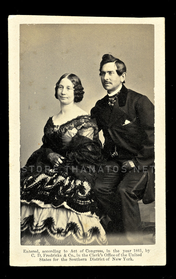 Rare Fredricks CDV Barney & Maria Williams Performed for Lincoln & Civil War Soldiers