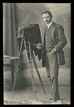 Load image into Gallery viewer, Photographer with Camera on Tripod / Vintage Real Photo Postcard