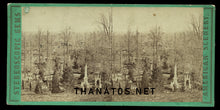 Load image into Gallery viewer, Old 3D Stereoview Photo GREEN-WOOD CEMETERY 1860s / Funeral Graveyard Int.