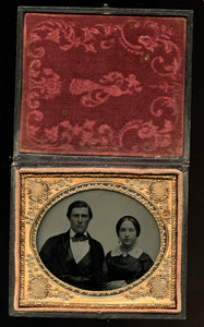 Handsome Man & Wife by Vermont Photographer Caleb L Howe - Relievo Sphereotype!