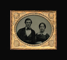 Load image into Gallery viewer, Handsome Man & Wife by Vermont Photographer Caleb L Howe - Relievo Sphereotype!