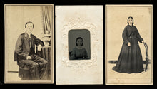 Load image into Gallery viewer, 1860s Photo Lot CDVs & Tinted Tintype Athens & Atlanta Georgia Photographers