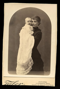 Beautiful Photo Woman in Mourning / Widow Dress? & Infant by Taber San Francisco
