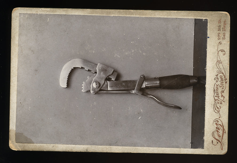 unusual cabinet card of a wrench - san diego california