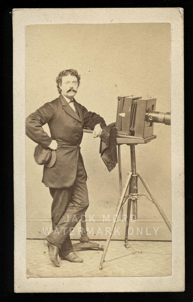 1860s Occupational Photo Cobleskill NY Photographer with Camera Antique CDV