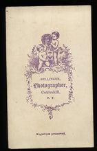 Load image into Gallery viewer, 1860s Occupational Photo Cobleskill NY Photographer with Camera Antique CDV