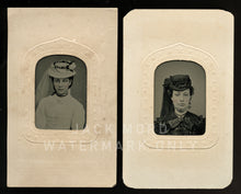 Load image into Gallery viewer, Black Veil, White Veil - Tintype Photos of Women / 1860s Civil War Era Fashion