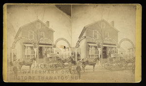 1870s Stereoview Millinery / Dry Goods Storefront in Middletown Connecticut