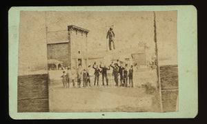 Interesting CDV Photo Leavenworth Kansas Townsfolk Lynching of Political Effigy?