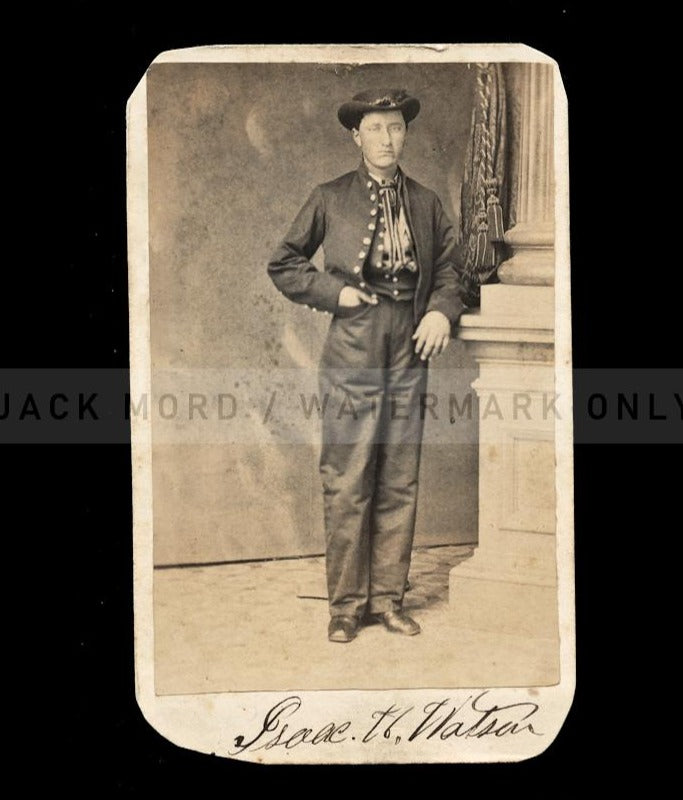 CDV Photo ID'd Civil War Soldier Isaac Watson 131st OVI Ohio National Guard