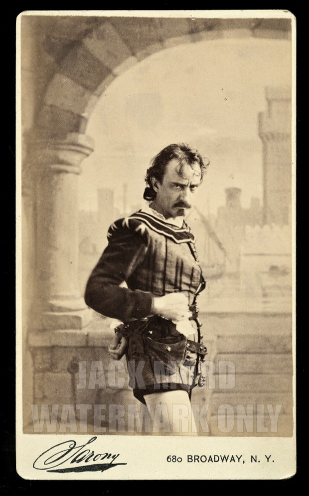 Rare 1870s CDV PHOTO Actor Edwin Booth as Iago in OTHELLO by Sarony New York