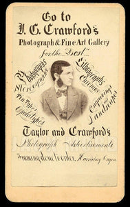 Superb 1870s CDV Photo Photographer Studio Advertising w Self Portrait - Oregon