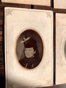 Lot Of 17 Antique 1860s - 1870s Tintype Photos Including Widow and/or Mourning