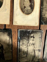 Load image into Gallery viewer, Lot Of 17 Antique 1860s - 1870s Tintype Photos Including Widow and/or Mourning