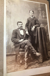 Antique Photo Ethnic Mexican ? Nevada Rancher Politician Stamped Logo on Boots