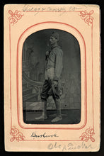 Load image into Gallery viewer, Rare Antique Tintype Photo ID'd Burlesque Clown / Actor - Chicago Comedy Company