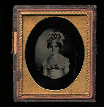 Load image into Gallery viewer, 1850s Ambrotype Painting of Colonial Period Drawing of Woman