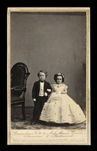 Load image into Gallery viewer, Groomsman & Bridesmaid, Tom Thumb Wedding, 1860s CDV Photo by Brady