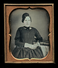 Load image into Gallery viewer, 1/6 Daguerreotype Pretty Identified Woman w Bible & Dag Cases! Original Seals