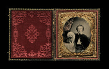 Load image into Gallery viewer, 1/6 Ruby Ambrotype Young Man Painted Buttons & Rings with Poodle Dog - Soldier?