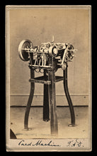 Load image into Gallery viewer, Rare 1860s CDV Photo of a Card Setting Machine / Worcester Massachusetts