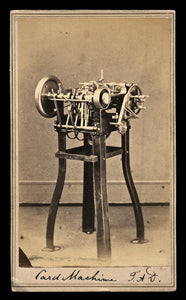 Rare 1860s CDV Photo of a Card Setting Machine / Worcester Massachusetts