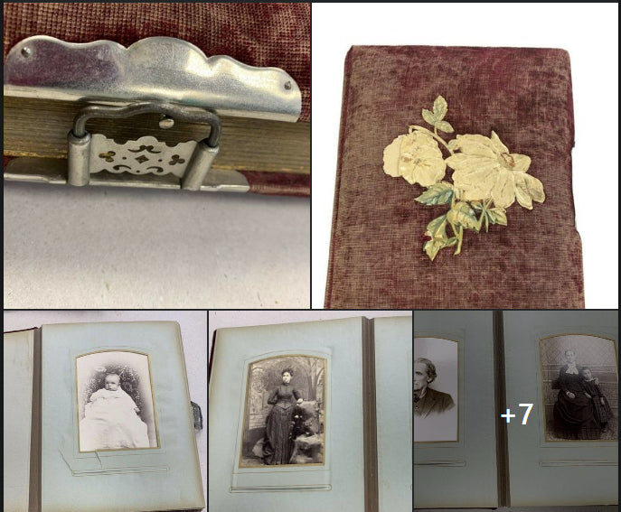 victorian photo album cabinet cards tintypes cdvs boston & new hampshire family