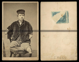 Very Rare CDV Photo of Walter Stuart AKA Texas Jack Sideshow Personality - One of a Kind?