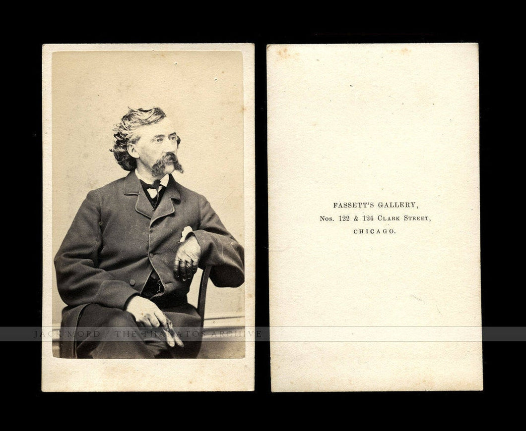 Unpublished? CDV by Fassett Chicago - Civil War Colonel James A Mulligan 23rd Illinois