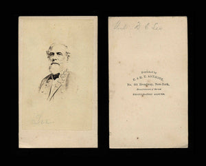 Civil War CDV Confederate General Robert E. Lee / E & HT ANTHONY
