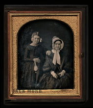 Load image into Gallery viewer, Daguerreotype Woman Holding Photo Case & Daughter Holding Purse by Chase, Boston