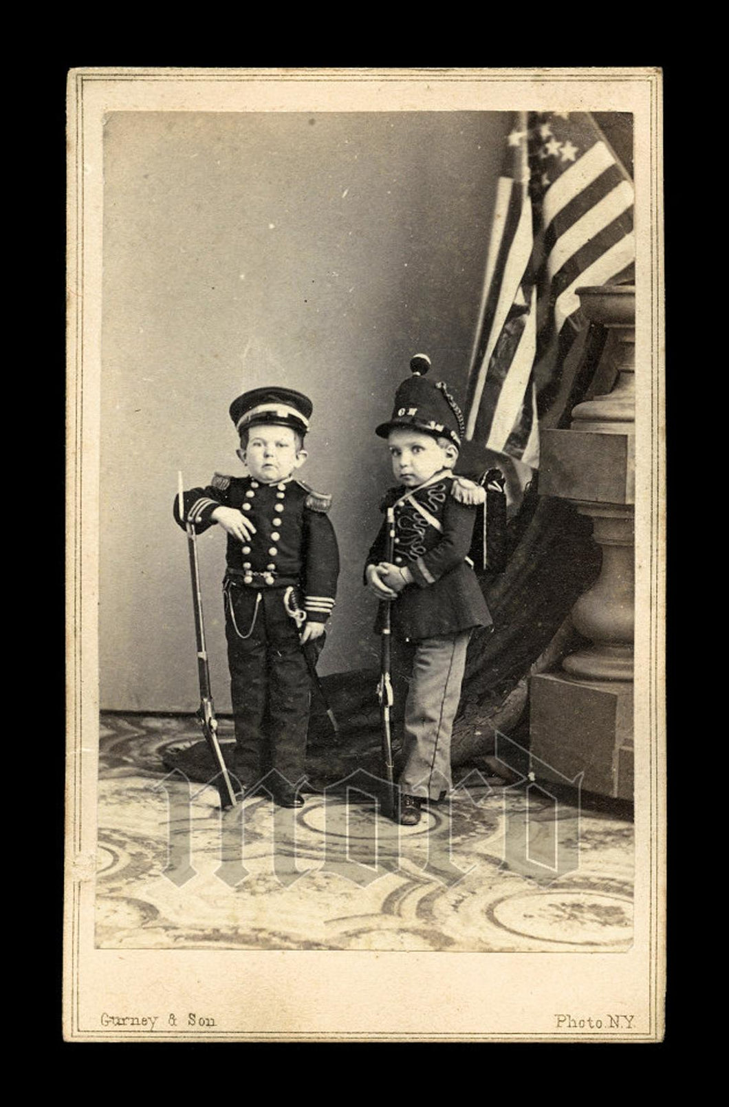 RARE 1860s CDV Commodore Foote Major Tot Sideshow Midgets Civil War Soldiers