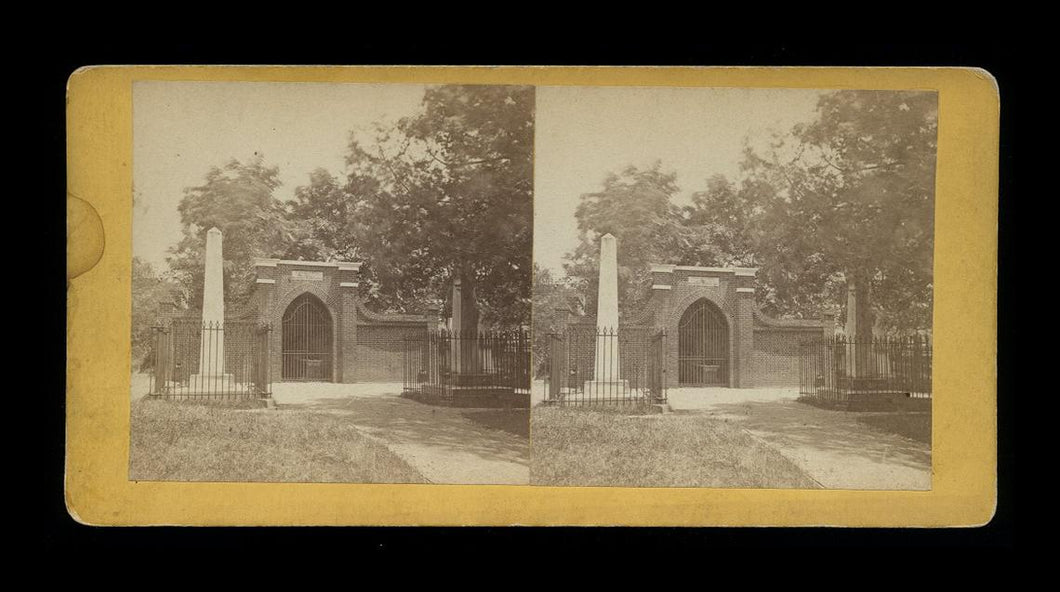 1860s Stereoview Tomb of George Washington at Mount Vernon Virginia