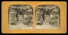 Load image into Gallery viewer, RARE 1860s Tissue Stereoview ~ Satan's Library or Study Room (1)