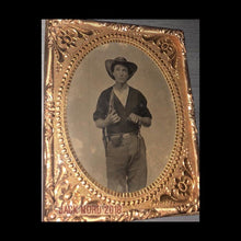 Load image into Gallery viewer, Amazing (4x) Armed Civil War Soldier Swinging Knife! 1/6 Tintype - Neff's Patent