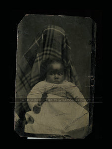 antique tintype photo very rare hidden mother with african american child