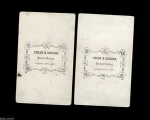 Super Rare 1860s CDV Photos - Carson City Nevada Pioneers on Boneshaker Bicycles!