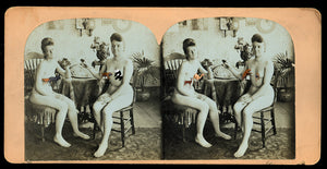 Rare 3D Stereoview Photo - Nude Victorian Girls!