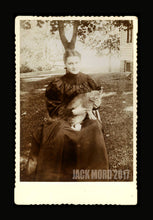 Load image into Gallery viewer, TWO (2) Antique 1800s Cabinet Card Photos of Victorian Cat Ladies
