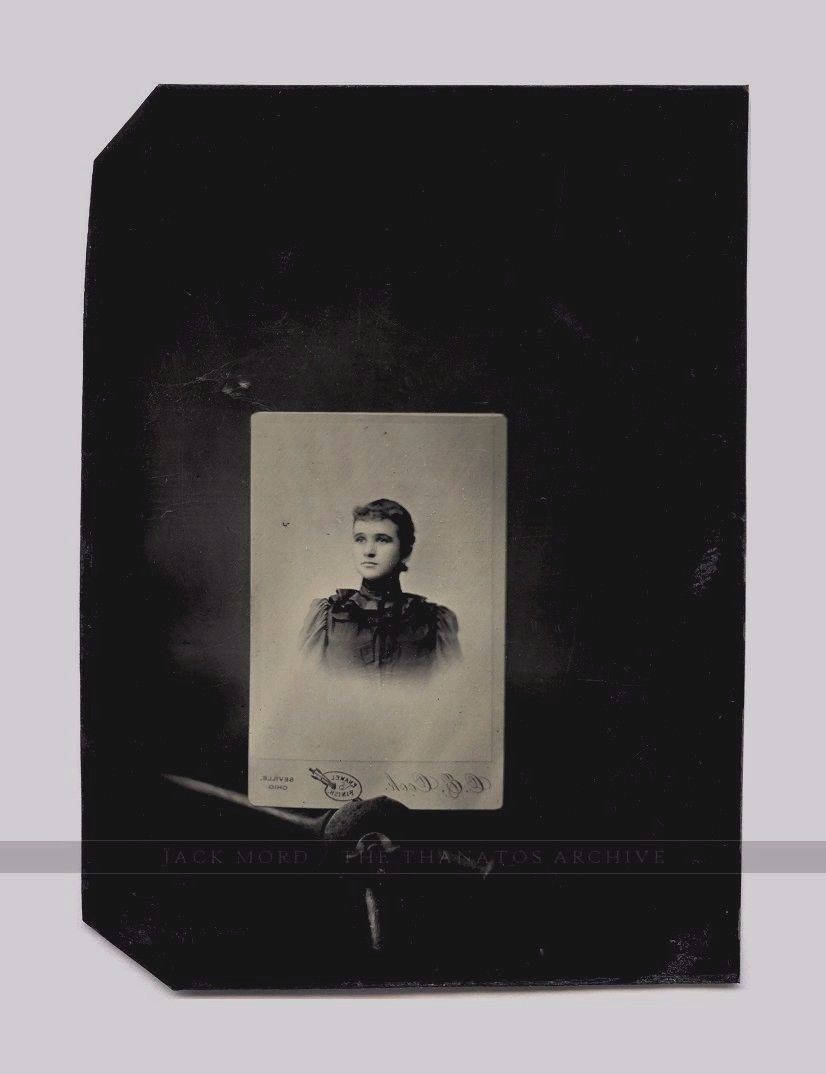 Unusual Tintype Photo - Memorial Mourning Image?