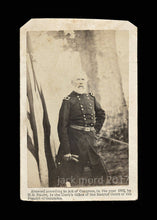 Load image into Gallery viewer, Rare CDV Photo Civil War General Sumner at Quarters - Brady Album Gallery 1860s