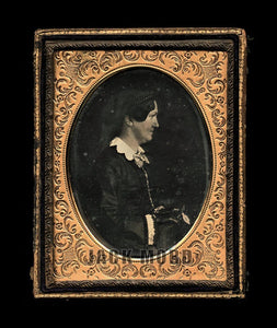 Very Rare 1850s Daguerreotype Photo Poet Author Political Essayist Louisa McCord