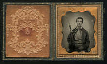 Load image into Gallery viewer, Excellent 1/6 Antique 1850s Ambrotype Photo ~ Musician with Violin / Violinist