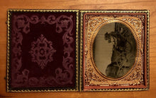 Load image into Gallery viewer, Outdoor 1860s Ambrotype Photo - Family of Four in Horse Carriage
