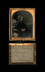 Tinted 1850s Ambrotype by Robert Armstrong Edinburgh Scotland Photographer