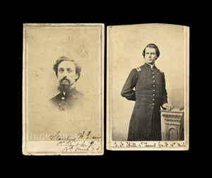 2 CDV Photos ID'd Civil War Soldiers 18th Michigan Infantry - Both POW & Wia