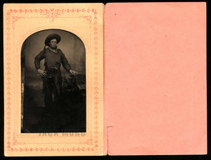 Antique Tintype Photo Armed Colorado Cowboy - African American Photographer