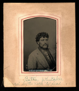 "Antique Tintype Photo - Butch ""Hanged By The Neck 'Til Dead"" - Outlaw Mugshot ?"